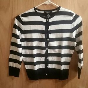 Chaps striped Cardigan sweater
